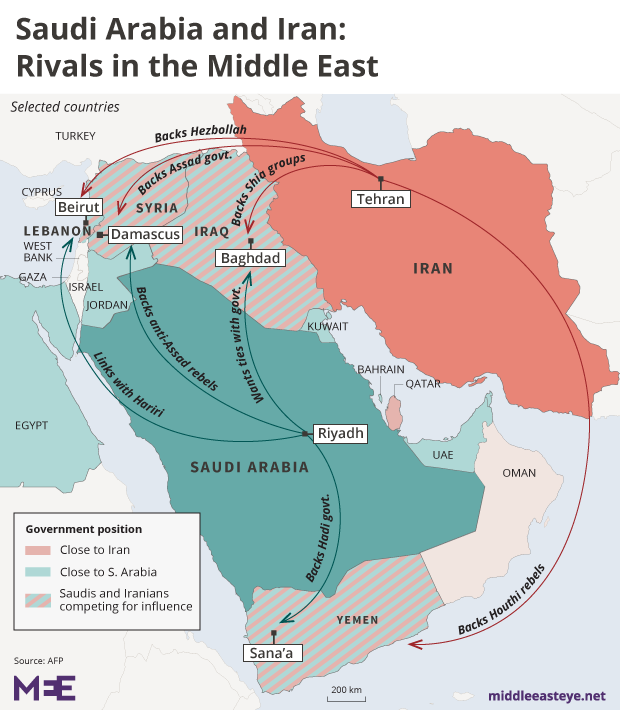 Saudi Iran Rivals map_2