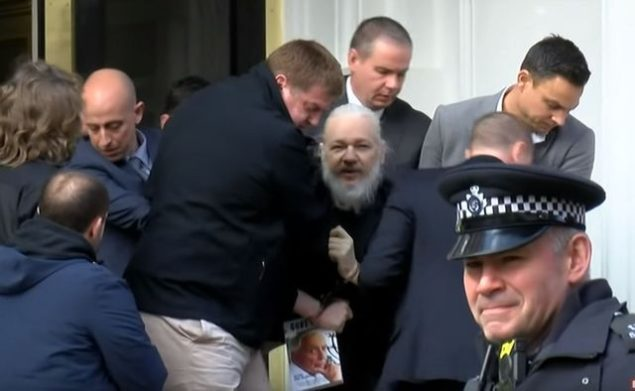 Assange arrested by the British police on April 11, 2019