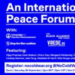 Peace campaigns unite for forthcoming international forum amid growing US militarism and new cold war threats