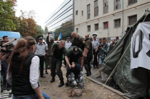 Moldovans protest rate hikes, right-wing violence