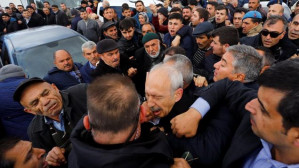 Turkish opposition leader attacked at funeral for slain soldier