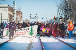 Protests continue across Canada in solidarity with Wet'suwet'en land defenders fighting fracked gas pipeline